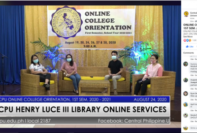 CPU Library conducts Online Orientation