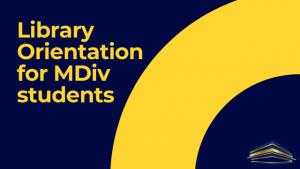 MDIV orientation
