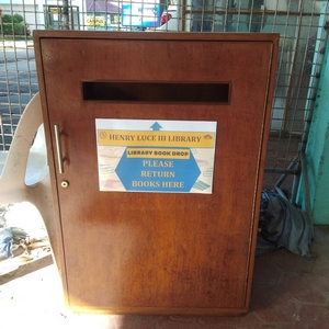 Library book drop box